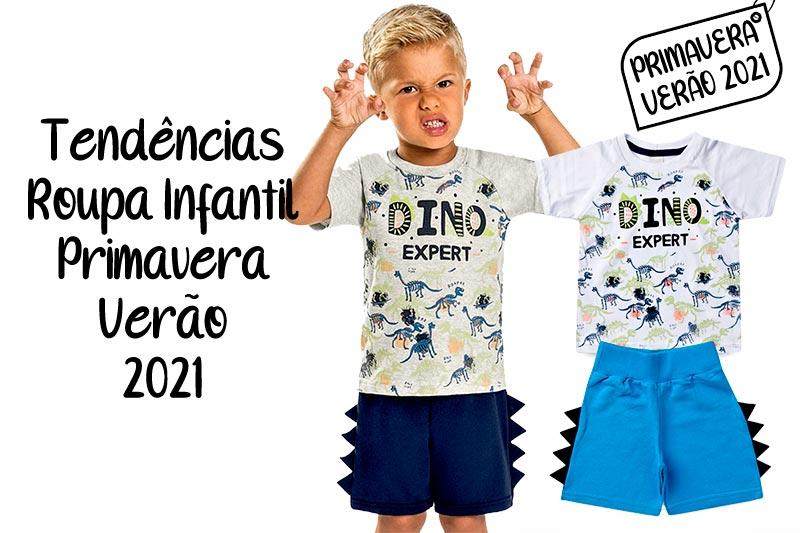 Tendnência Roupa Infantil 2021 Primavera Verão Menino Masculino
